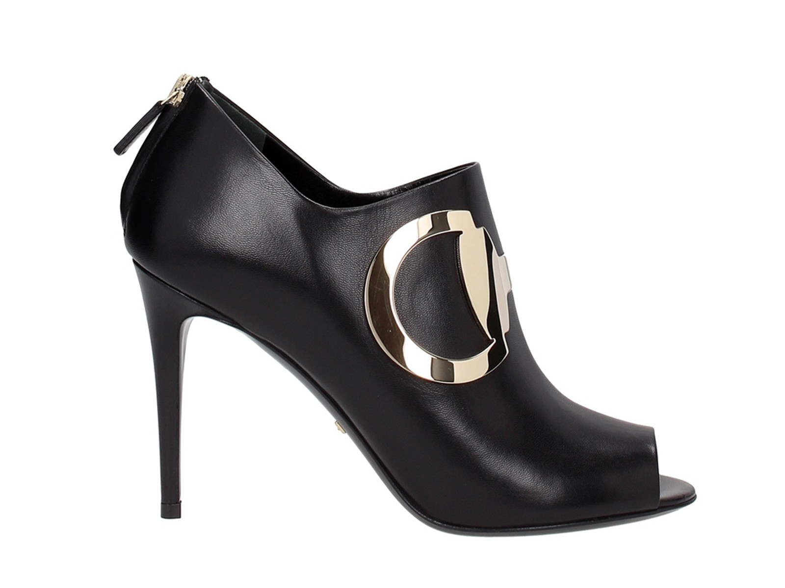 Gucci High Heels Ankle Boots In Black Leather Mod