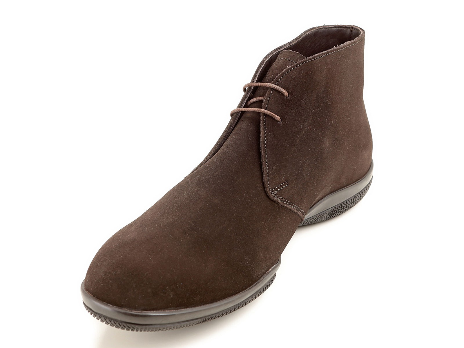 prada s desert boots in brown suede leather mod