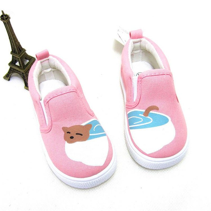 animal printing slip on canvas cute kids shoes   7store