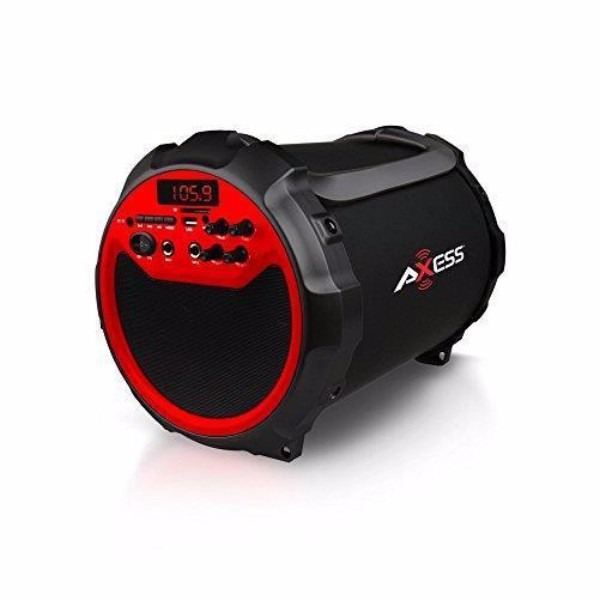axess red indoor outdoor bluetooth 6 subwoofer 3 horn 2